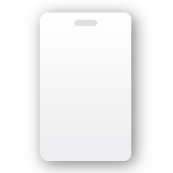 pvc slot vert white blank pvc cards with vertical slot 500 count